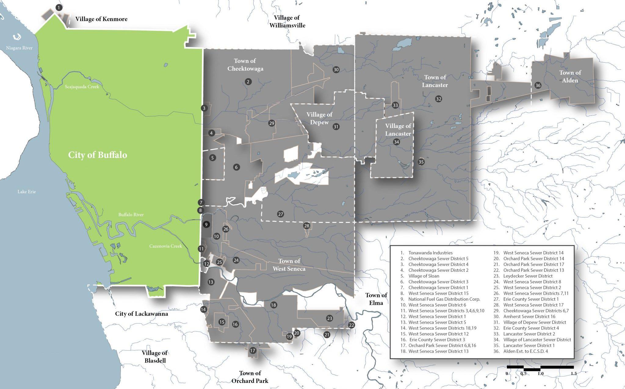 Buffalo Sewer Area Map